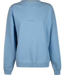 acne studios chest logo ribbed sweatshirt