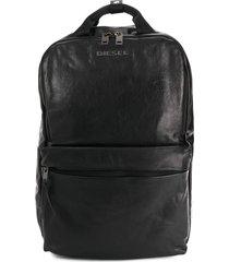 diesel sheepskin backpack - black