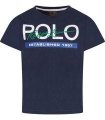 ralph lauren blue boy t-shirt with logo