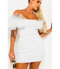 akira welcome to the party dramatic sleeve mini dress