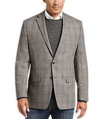 calvin klein olive plaid modern fit sport coat