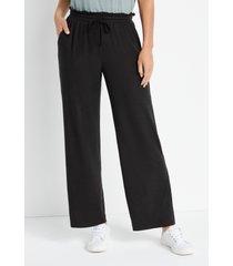 maurices womens lakeside black super soft wide leg pants