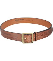 dsquared2 logo detail belt