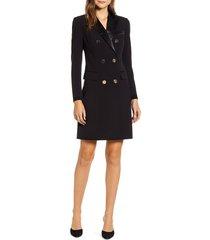 women's anne klein long sleeve tuxedo sheath dress