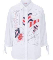 camicetta stampata (bianco) - john baner jeanswear