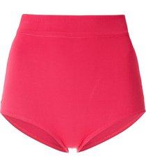 egrey classic high waisted bikini bottom - pink