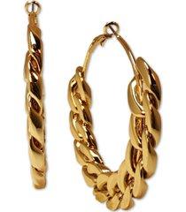 """thalia sodi gold-tone large chain link hoop earrings, 2.6"""", created for macy's"""