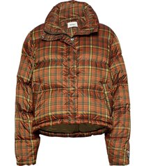 tislei print down jacket 20-04 gevoerd jack oranje holzweiler