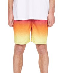 billabong all day fade layback swim trunks, size xx-large in neon at nordstrom