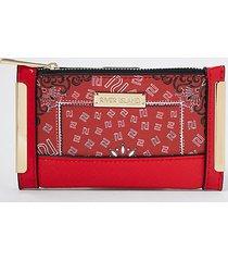 river island womens red ri bandana print mini foldout purse