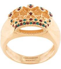 dolce & gabbana anel de coroa - dourado