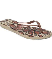 hav slim animals shoes summer shoes flip flops brun havaianas