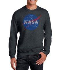 la pop art men's word art nasa's most notable missions crewneck sweatshirt