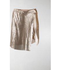 poster girl short chainmail skirt