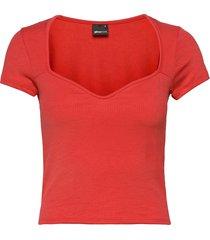 margot bustier top t-shirts & tops short-sleeved röd gina tricot