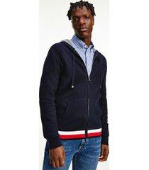 tommy hilfiger men's organic cotton hoodie sweater desert sky - l