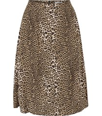 utställd lång kjol med mönster