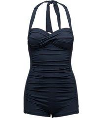 boyleg maillot baddräkt badkläder blå seafolly
