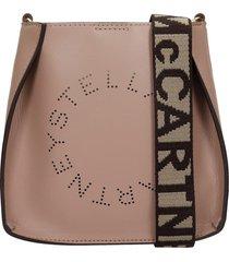 stella mccartney shoulder bag in grey faux leather