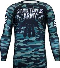 rash guard army spartanus fightwear verde - verde - feminino - dafiti