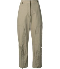 stella mccartney tailored military trousers - green