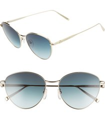 women's longchamp 55mm round sunglasses -