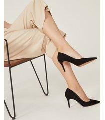 amaro feminino scarpin básico salto fino, preto