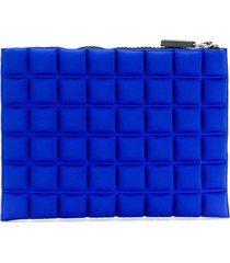 no ka' oi chocolate bar quilted pouch - blue