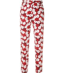 reinaldo lourenço printed buckle trousers - red