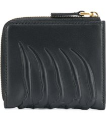 alexander mcqueen rib cage zip around wallet - black