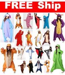 hot unisex adult pajamas kigurumi cosplay costume dress animal onesie sleepwear
