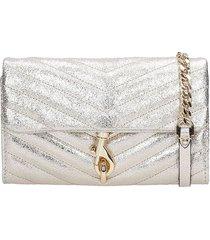 rebecca minkoff edie wallet on shoulder bag in gold leather