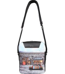 "paul smith designer men's bags, ""mini kings cross"" print travel bag"