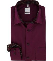 overhemd olymp comfort fit bordeaux