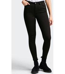 high waist hannah skinny jeans - svart denim