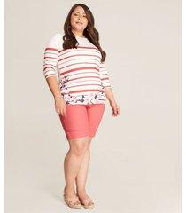 camiseta mujer estampada rayas