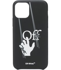 off-white hand-off iphone 11 pro case - black