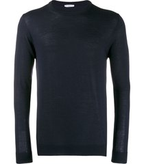 cenere gb fine knit fitted sweater - blue