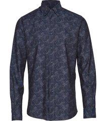 brosna button under overhemd casual blauw morris
