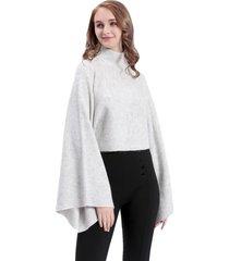 sweater maxi mangas gris nicopoly