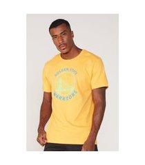 camiseta nba estampada golden state warriors amarela