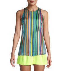 rainbow stripes sleeveless top