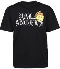 palm angels t-shirt burning head logo