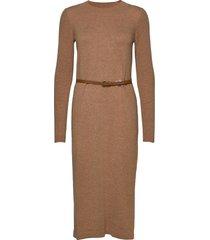 dresses flat knitted jurk knielengte bruin esprit collection