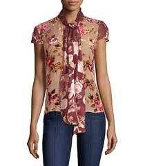 jeannie bow-collar blouse