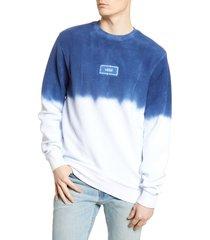 men's vans dip dye terry crewneck sweatshirt