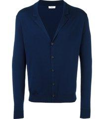 fashion clinic timeless notched lapel cardigan - blue