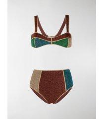 oséree colour-block fitted bikini