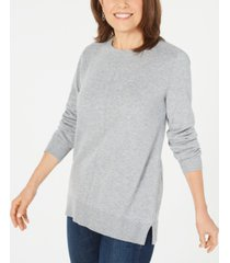 karen scott plush front-seam sweater, created for macy's