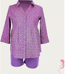 zwangerschaps blouse flower